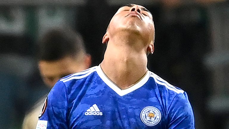 Leicester were unable to find a way past Legia Warsaw