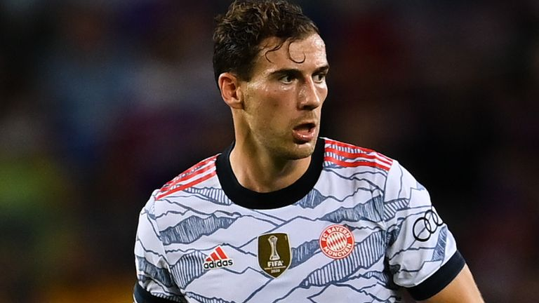 Leon Goretzka featured in Bayern's 3-0 win over Barcelona in the Champions League on Tuesday