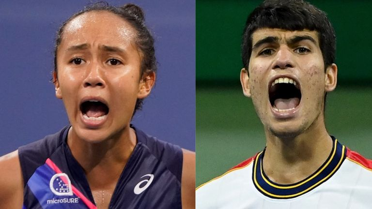 Teenagers Leylah Fernandez and Carlos Alcaraz continued their dream run at the US Open by reaching the quarter-finals