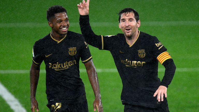 Ansu Fati handed Lionel Messi's No 10 shirt at Barcelona   Football News    Sky Sports