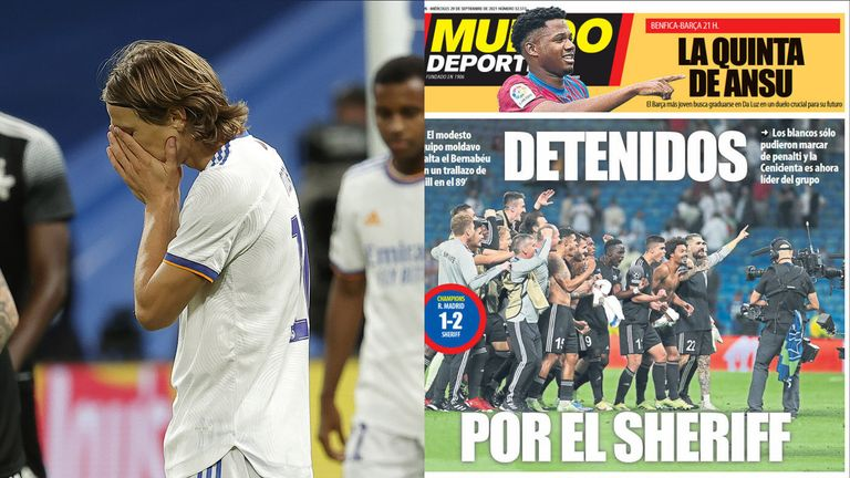 Real Madrid after defeat by Sheriff