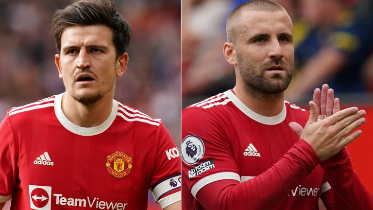 Harry Maguire and Luke Shaw