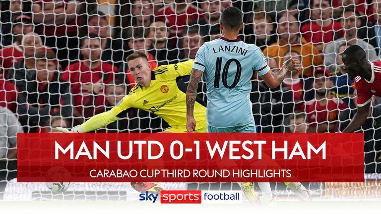 Man Utd 0-1 West Ham Carabao Cup