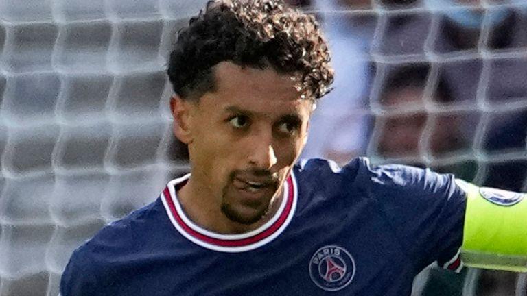 Paris Saint-Germain defender Marquinhos (AP)