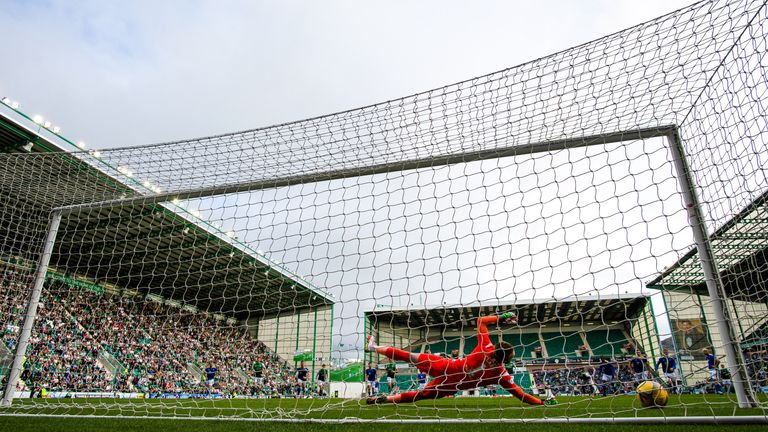 Boyle's second-half penalty ended a run of three Hibs defeats in a row against St Johnstone