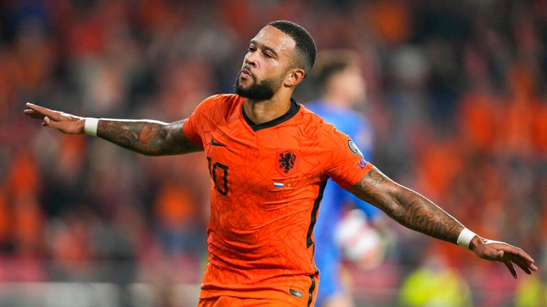 Memphis Depay netted a double in Luis Van Gaal's first competitive game back