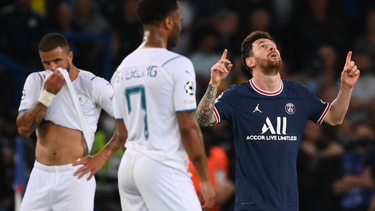 Lionel Messi's stunning first PSG goal sealed a 2-0 Champions League victory over Man City at the Parc des Princes on Tuesday.
