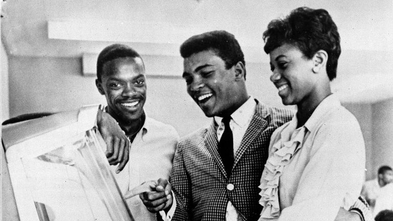 Muhammad Ali visited Tennessee A&I State University in 1961 for a reunion with Boston and Wilma Rudolph