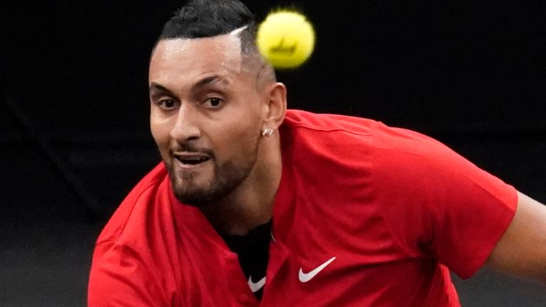 Nick Kyrgios has been in action at the Laver Cup in Boston