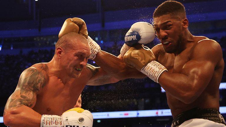 Anthony Joshua vs Oleksander Usyk, IBF, WBA, WBO and IBO Heavyweight World Title, Tottenham Hotspur Stadium, London..25 September 2021.Picture By Mark Robinson Matchroom Boxing..