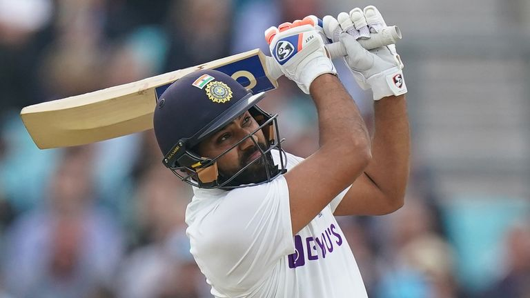 England vs India: Rohit Sharma scores 127 as tourists earn lead of 171 on  day three of fourth Test | Cricket News | Sky Sports