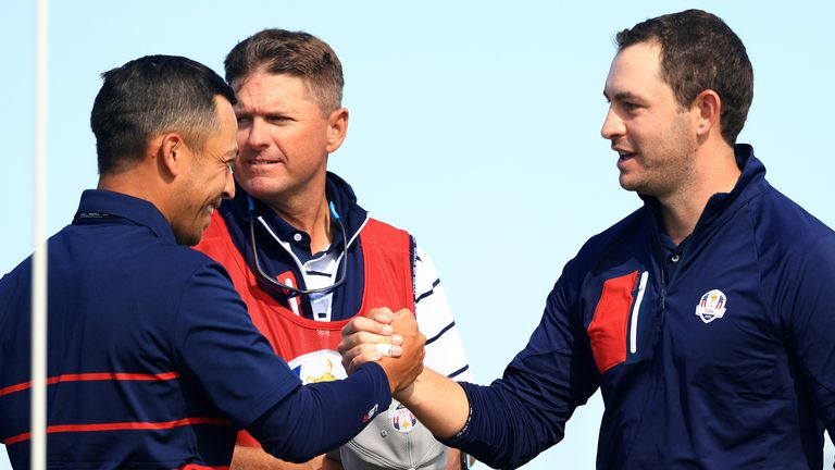 Xander Schauffele and Patrick Cantlay made a winning start to their Ryder Cup debuts