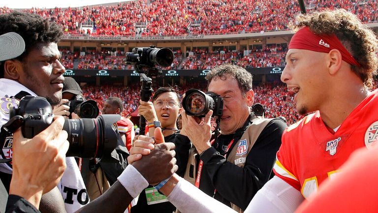 Lamar Jackson and Patrick Mahomes look ahead to the big clash this Sunday as the Baltimore Ravens face the Kansas City Chiefs.