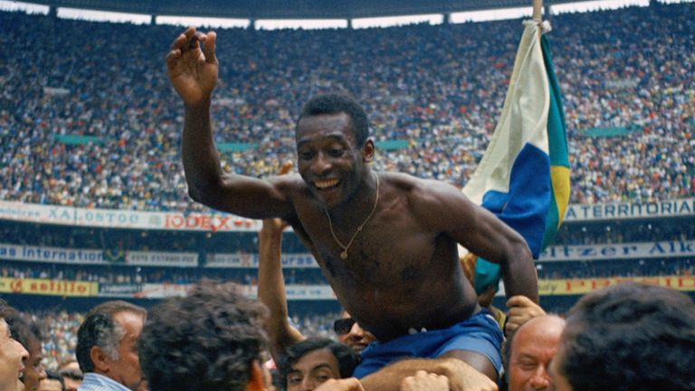 Pele won the last of his three World Cups with Brazil in 1970