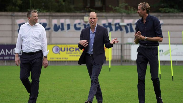 Prince William at Dulwich Hamlet