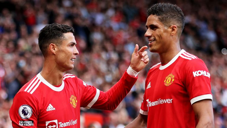 Raphael Varane made his home debut in the 4-1 win over Newcastle
