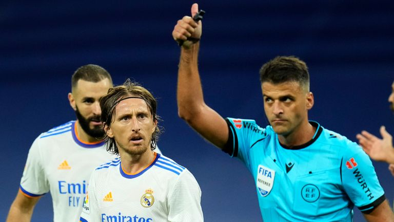 Real Madrid were denied a penalty in the first half