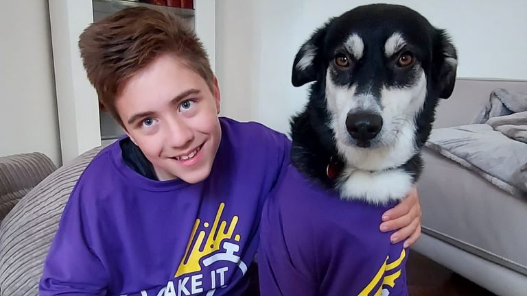 Rhys is taking part in Scope's Make It Count initiative along with his family