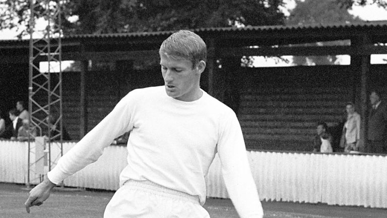 Roger Hunt training for England