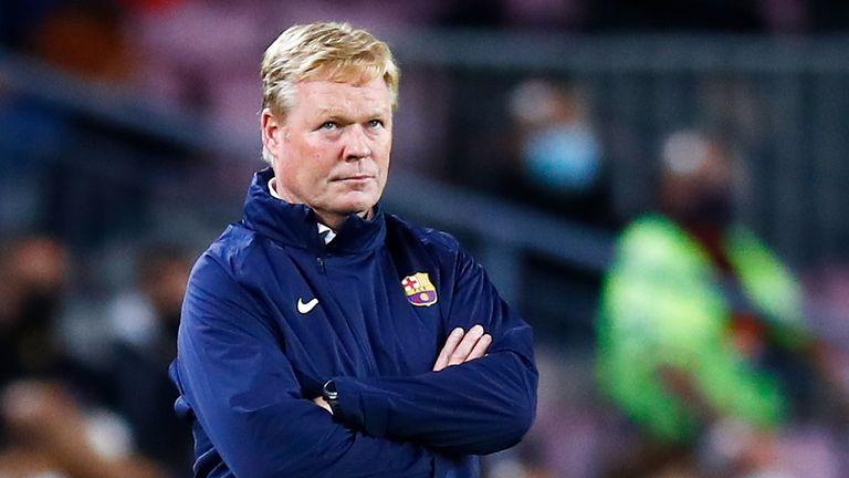 Ronald Koeman is under pressure as Barcelona head coach