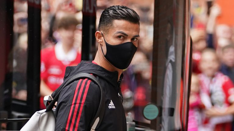 Ronaldo arrives at Old Trafford ahead of his second debut for Man Utd against Newcastle