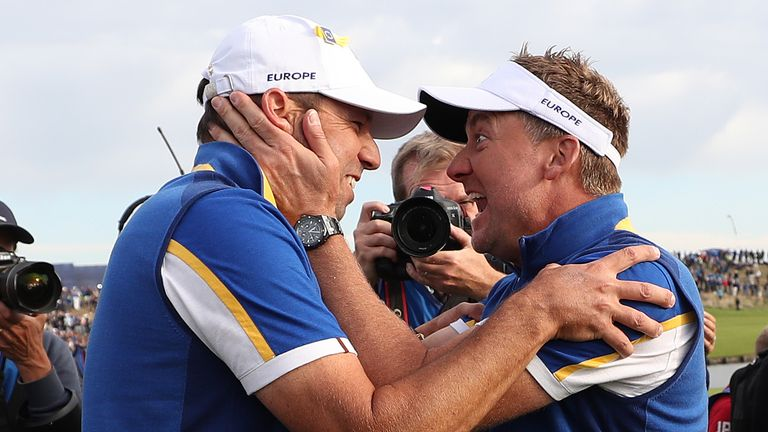 Sergio Garcia and Ian Poulter at the 2018 Ryder Cup