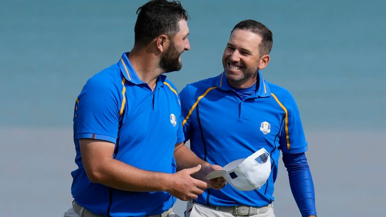 Jon Rahm and Sergio Garcia gave Europe a winning start in the Ryder Cup foursomes