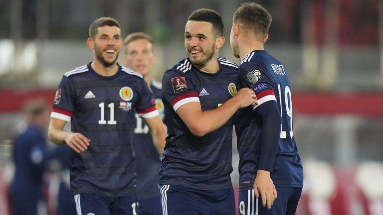 Scotland celebrate a crucial win in Austria