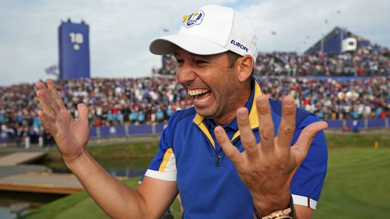 Sergio Garcia during the 2018 Ryder Cup