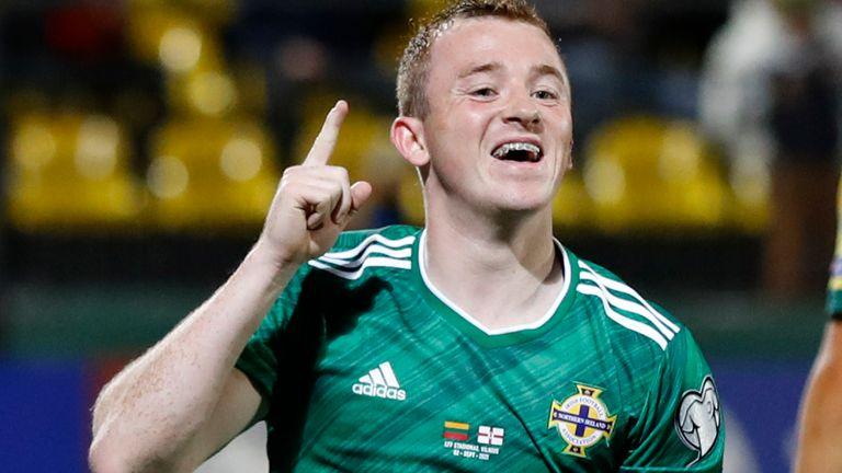 Shane Lavery scored on his first competitive start for Northern Ireland