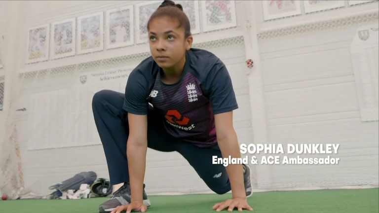 England's Sophia Dunkley is one of a number of high-profile ACE Ambassadors