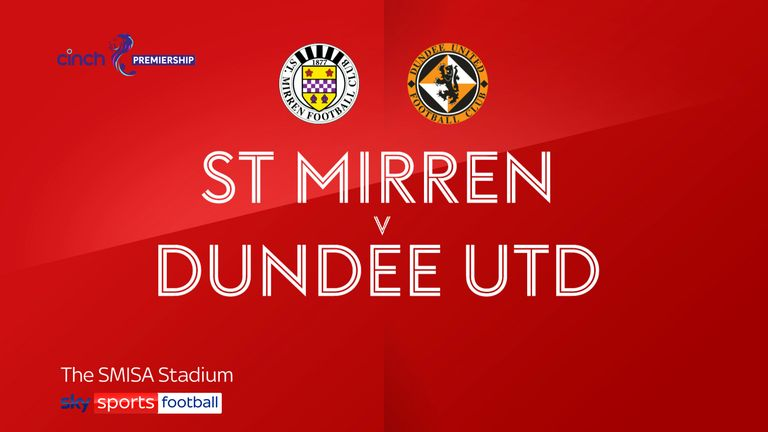 St Mirren v Dundee Utd