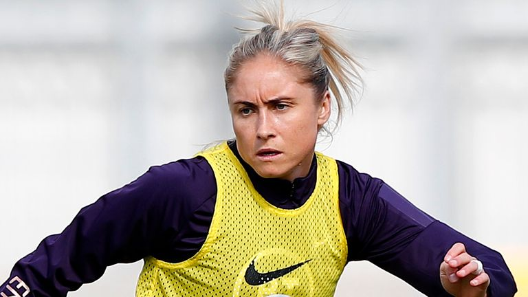 England Women's Steph Houghton in action during a training session at Silverlake Stadium