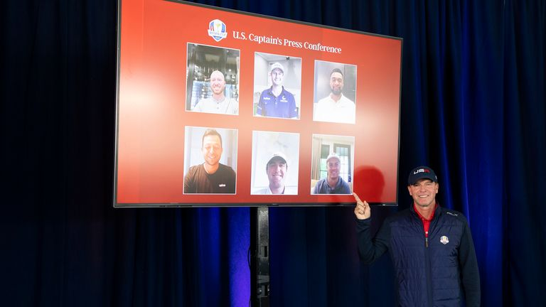Steve Stricker reveals his captain's picks for the Ryder Cup