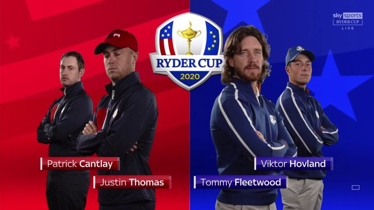Highlights from the fourballs between Justin Thomas, Patrick Cantlay, Viktor Hovland and Tommy Fleetwood.