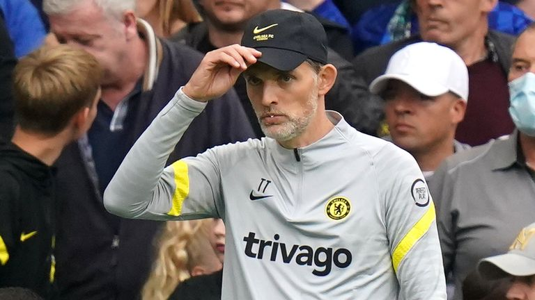 Chelsea manager Thomas Tuchel during the Premier League match at Stamford Bridge, London. Picture date: Saturday September 25, 2021.