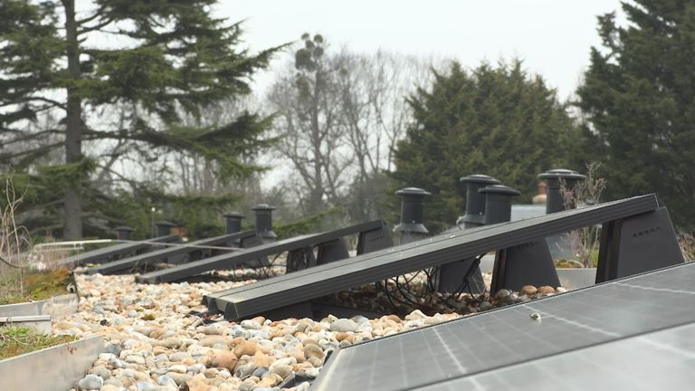 Tottenham use solar panels throughout Hotspur Way to help power the buildings