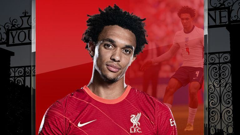 Liverpool's Trent Alexander-Arnold played in midfield for England against Andorra