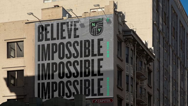 """A new club motto designed to match Vardy's rise from non-league football to Premier League champion: """"Believe Impossible"""" will also be used on all the club's marketing"""