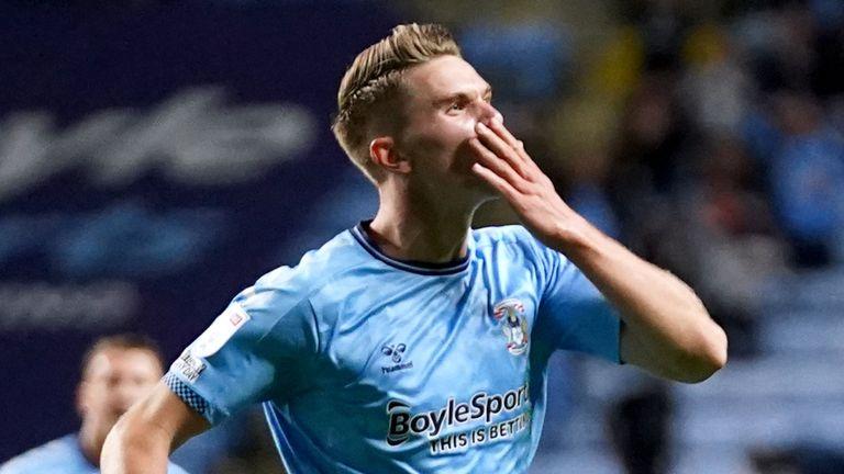 Viktor Gyokeres a marqué deux fois pour les Sky Blues contre Peterborough