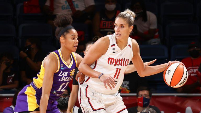 Elena Delle Donne backs down Nia Coffey