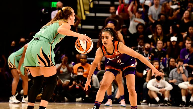 WNBA playoffs: Phoenix Mercury hold off New York Liberty in thriller, Chicago Sky soar past Dallas Wings   NBA News   Sky Sports