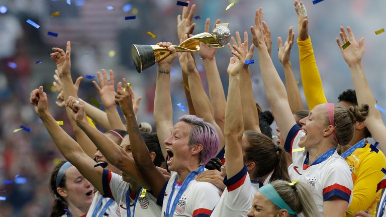 Jill Ellis coached the USA to victory at the 2019 Women's World Cup (AP)