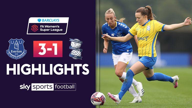 Highlights of the Women's Super League match between Everton and Birmingham.