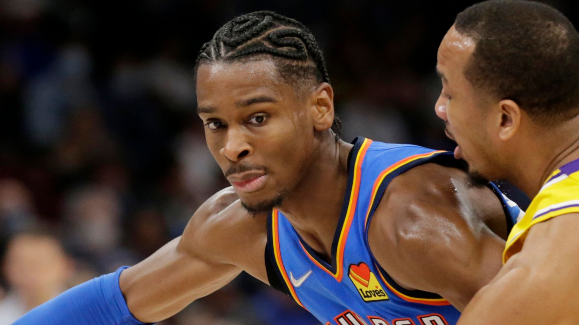 Gilgeous-Alexander leads Thunder from 26 down to beat Lakers