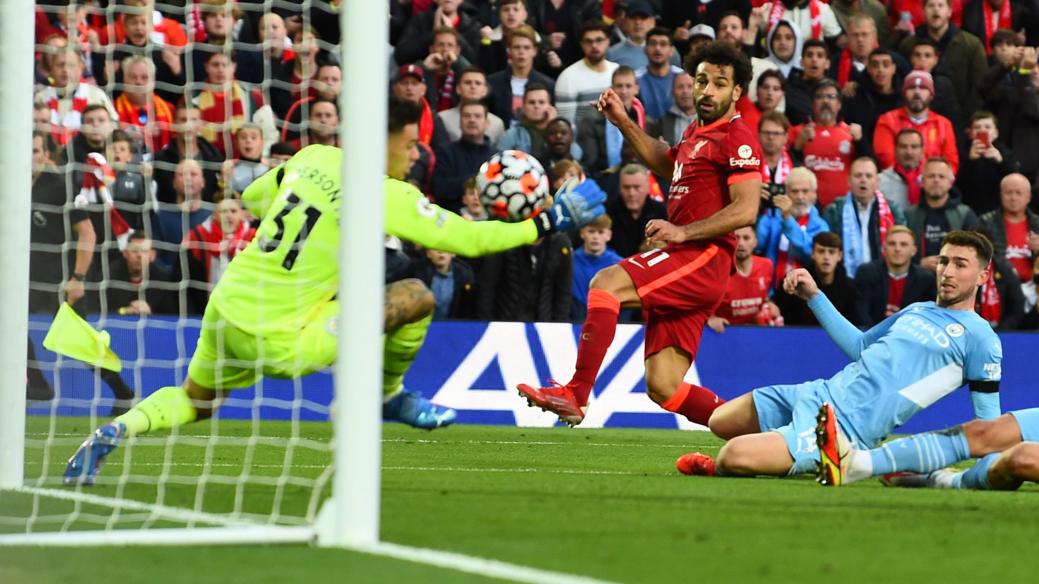 Liverpool 2-2 Man City: Mohamed Salah scores stunning goal as Premier  League title rivals go toe to toe at Anfield   Football News   Sky Sports