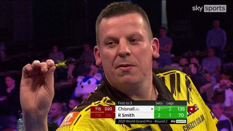 Dave Chisnall beat Ross Smith in some style with this 135 checkout!