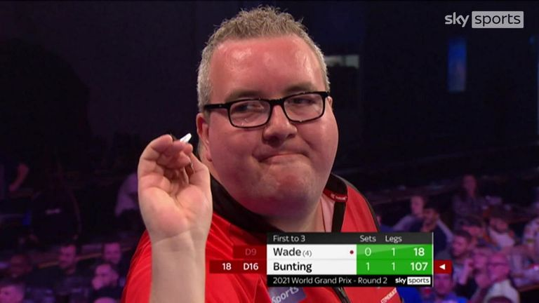 Stephen Bunting is in fine form and sent James Wade packing with some big finishes