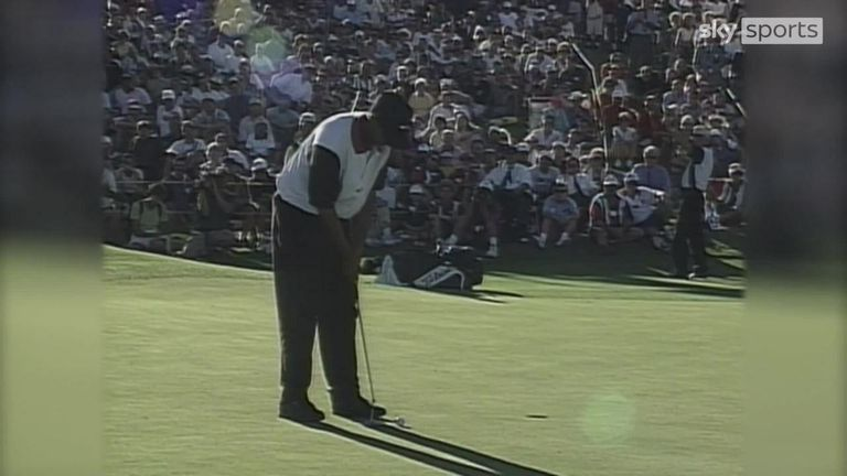 October 6 marks the 25th anniversary of Tiger Woods' maiden PGA Tour title. We look back at highlights from his breakthrough win at the Las Vegas Invitational.