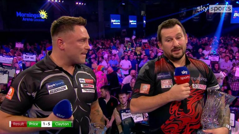 Jonny Clayton was elated after beating Gerwyn Price 5-1 to win the World Grand Prix